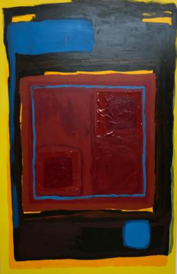 No.10 Cameron's Den, 120cm x 180cm, Oil and Plastic on Canvas, 2018